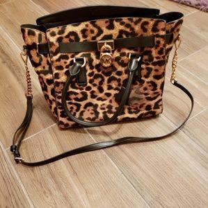 Michael Kors Leopard Hamilton Bag